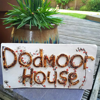 Personalised Ceramic House Name Sign Tile
