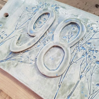 Double Ceramic Number Tile - Custom Made