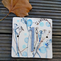 Single Ceramic Number Tile - Custom Made