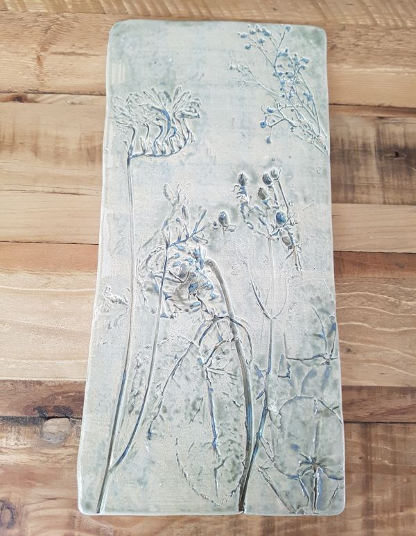 Glimmer Green Flower Bouquet Ceramic Wall Tile