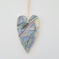 Organic Ceramic Hanging Heart