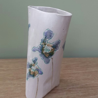 Medium Lilac & Mint Flowers Ceramic Vase