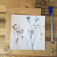 Card - Rustic Cow Parsley