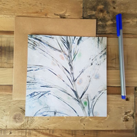 Card - Grey Leafy Vines
