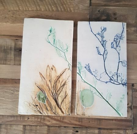 Summer Branches Ceramic Wall Art Tiles