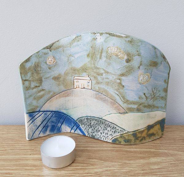 House on the Hill Ceramic Curve Art