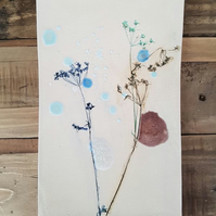 Colourful Cow Parsley Wall Hanging Tile