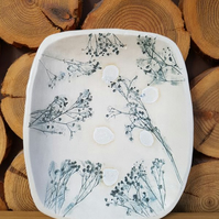 Grey Gypsophila Ceramic Bowl