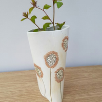 Medium Dandelion Ceramic Vase