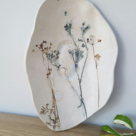 Cow Parsley Stems Ceramic Dish