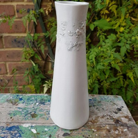 Tall Elegant Subtle Grey Sealine Ceramic Vase