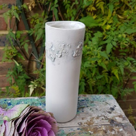 Grey & White Sealine Ceramic Vase