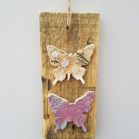 Mixed Media Wall Hanging – Butterflies