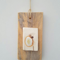 Mixed Media Wall Hanging – Single Stem