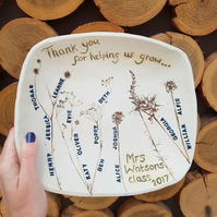 School Class Names Personalised Ceramic Bowl