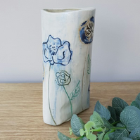 Botanical Blooms Ceramic Vase