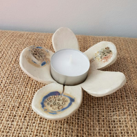 Dandelion Petals Ceramic Tea Light Holder