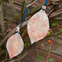 Hanging Ceramic Leaf Decorations