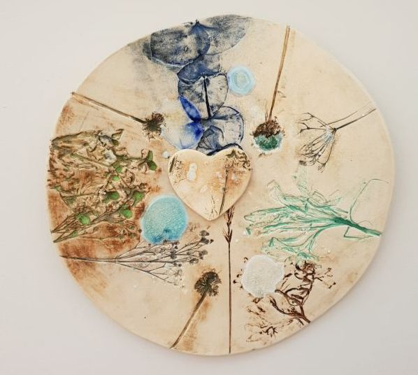 'Botanical Garden' Circular Ceramic Wall Art