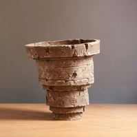 Rustic Sculptural Ceramic Vessel