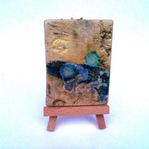 Ceramic ACEO - Rockpool Beach