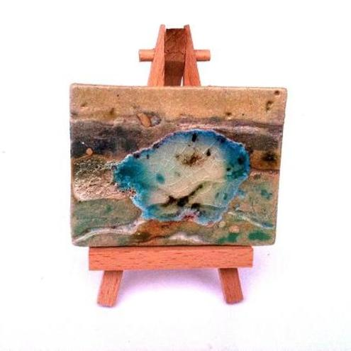 Ceramic ACEO - Blue Lagoon