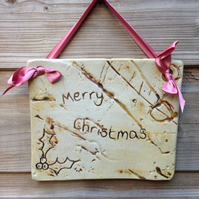 Merry Christmas Ceramic Plaque
