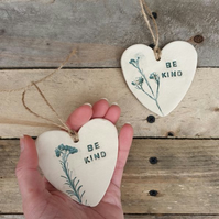 Be Kind Ceramic Heart Plaque
