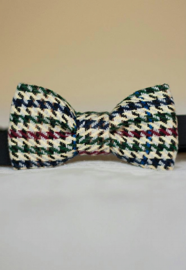 Mens Wool Bow Tie