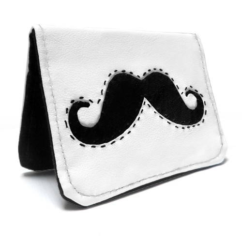 Cute Moustache Oyster, Debit, Credit, Business Card Holder