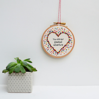 You are our Greatest Adventure Embroidery Hoop Wall Art