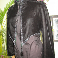 Sweet black velvet gothic pixie jacket