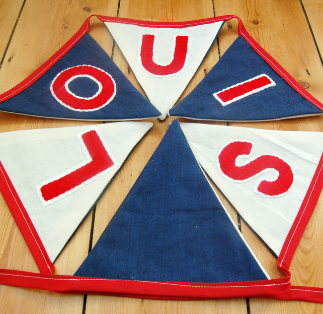 Personalised Red-White-Blue Bunting