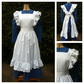 Victorian Style Dress and Pinafore Apron, ideal for Stage, Victorian Markets