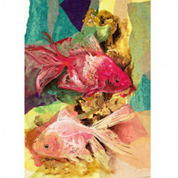 Just Keep Swimming Greeting Card