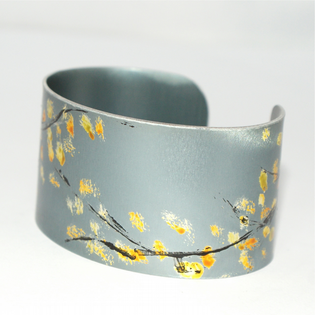 Winter Blossom Cuff - narrow