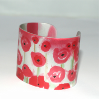 Poppy fields cuff