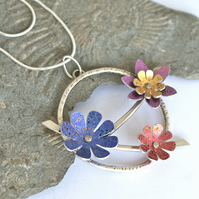 Spring flowers statement necklace