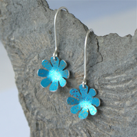 Spring flowers hand painted earrings
