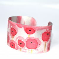 Poppy fields cuff - narrow