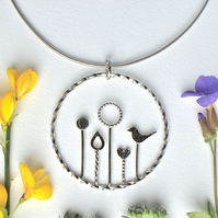 Silver meadow necklace