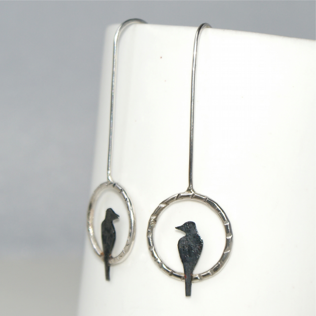Little bird drop earrings