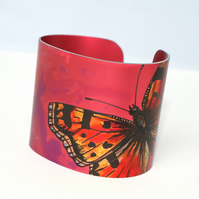 Red tortoiseshell butterfly cuff