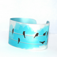 Birds on a wire cuff
