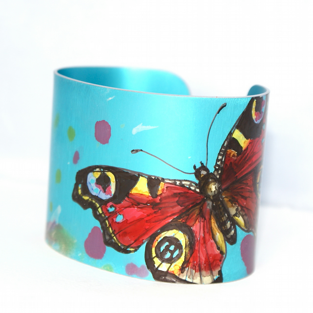 Peacock butterfly cuff