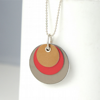 Colour block reversible necklace - medium