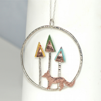 Fox in the woods necklace
