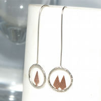 Tiny tree drop earrings