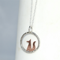 Tiny fox necklace