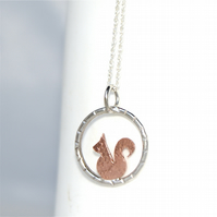 Tiny squirrel necklace